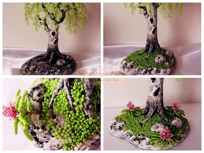 Бисероплетение дерево береза мастер класс пошаговое фото
