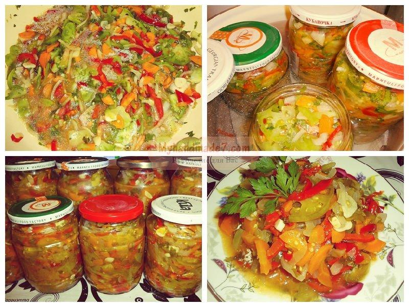 Кулинарные рецепты заготовки на зиму салаты