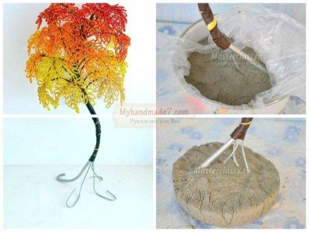 Поделка дерево осень руками пошагово 89