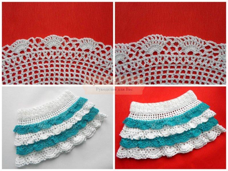 Вязание крючком для юбочка для девочки
