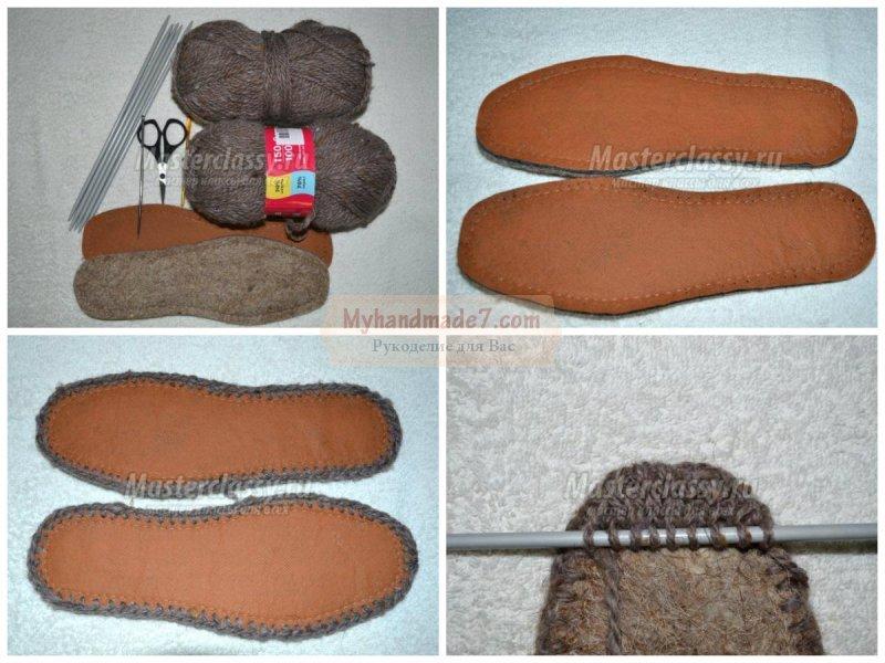 Вязание тапочек пошаговые
