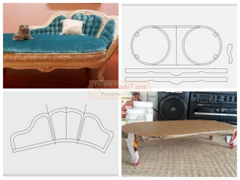 Как сделать для кукол мебель своими руками 3