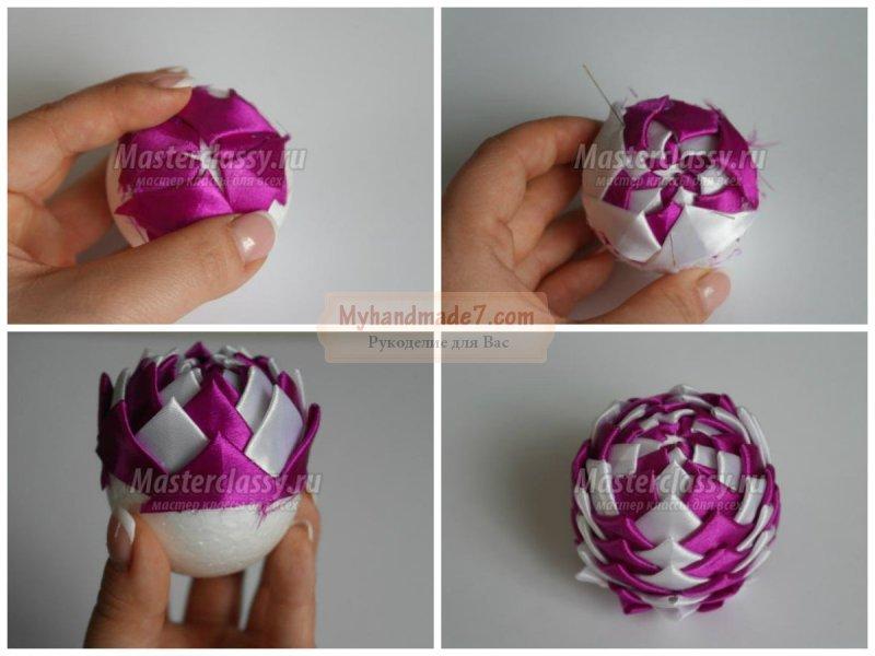 Новогодние шары пошагово с фото