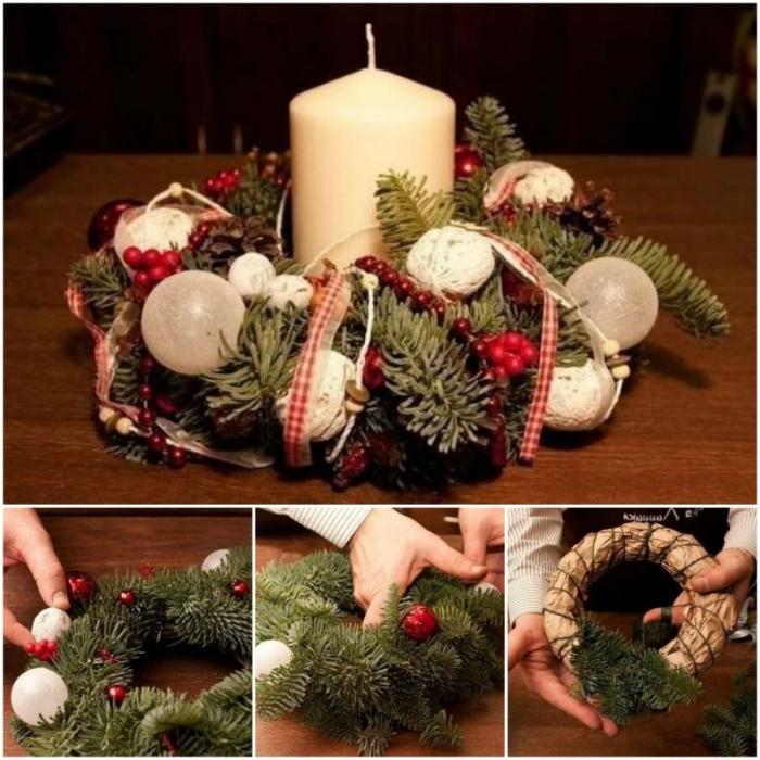 Как сделать елочные венки своими руками