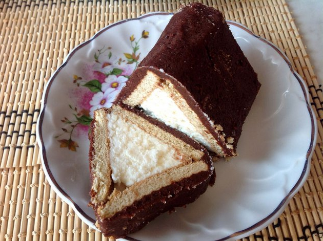 торт из печенья домик рецепт с фото