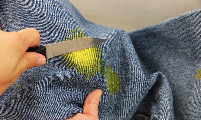 Чем вывести краску с джинс в домашних