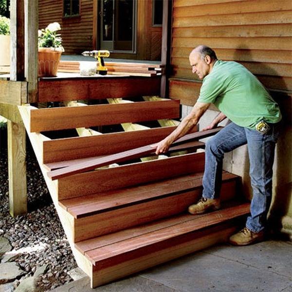 Как сделать лестницу с веранды своими руками 142