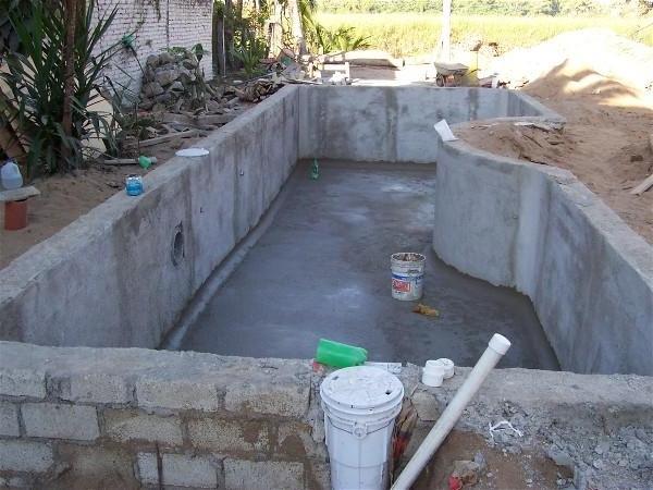 Строительство бассейна из блоков своими руками 74