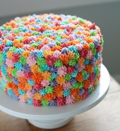 Как самому сделать красивые торты 17