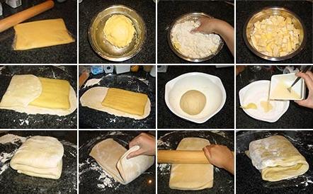 с слоеное тесто рецепт с фото пошагово в духовке