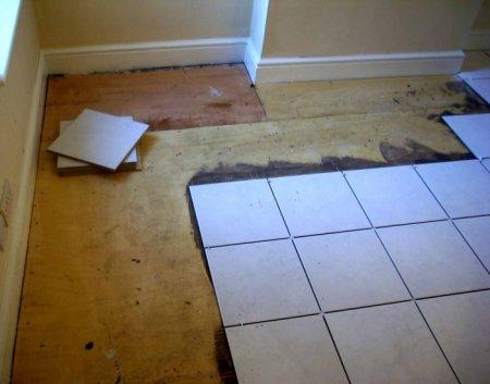 Керамогранит на деревянный пол: как положить, варианты укладки, монтаж