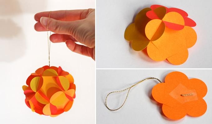 Как сделать легкий шар из бумаги
