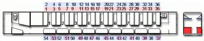 Вагон поезда схема мест плацкарт