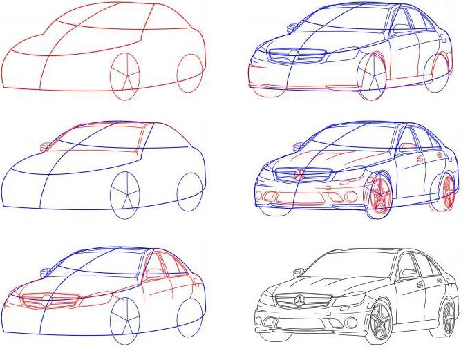 Как нарисовать машины карандашом поэтапно видео