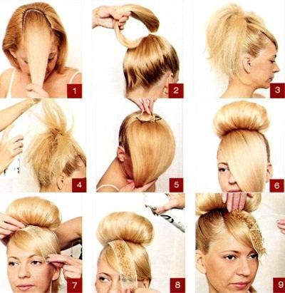 Прически на длинные волосы бабетта как делать