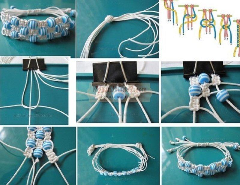 Как сделать браслет из шнурков своими руками схема 54