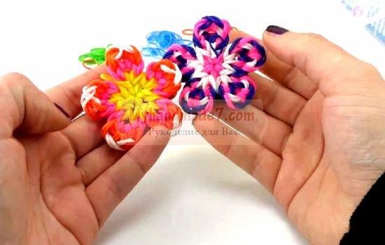 Как из резинок сделать цветы на вилках - Greenkabachok.ru