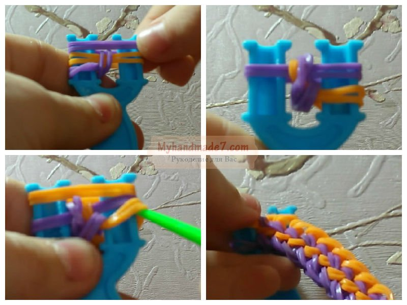 Браслеты из резиночек на станке: пошаговые инструкции и схемы плетения