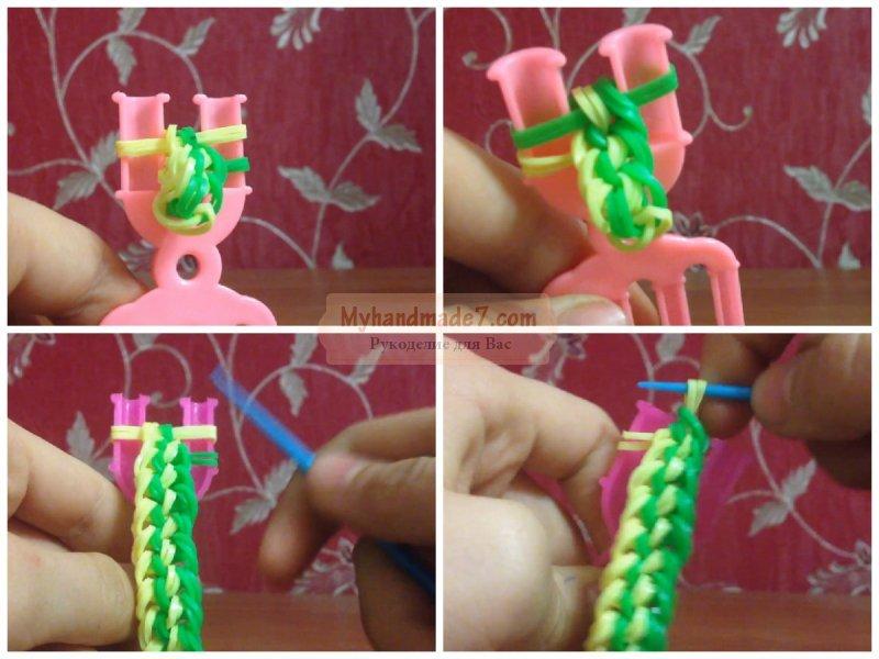 Плетем на рогатке браслет
