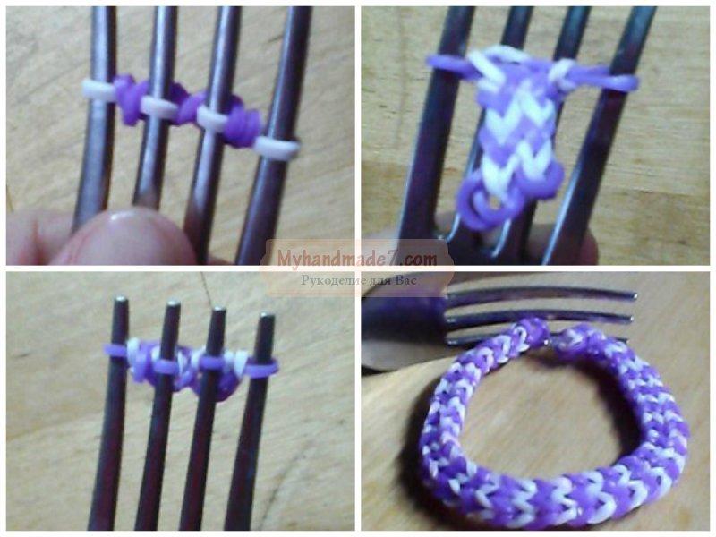 Схемы на вязание браслетов на руку