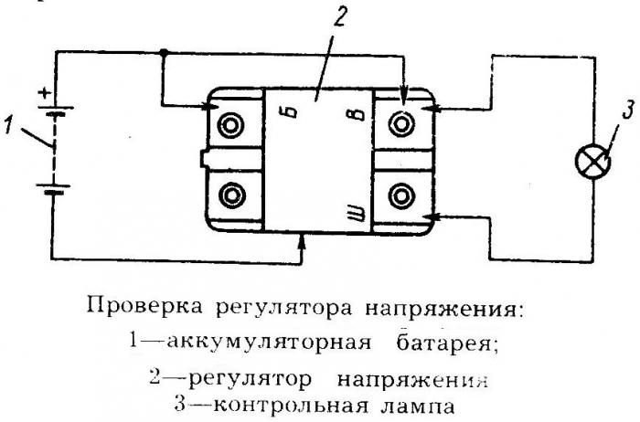 Схема подключения реле регулятора на генератор6
