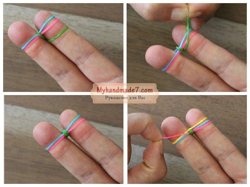 Резинки на пальцах узоры