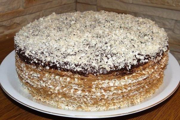 Вафельный торт из готовых коржей с фаршем