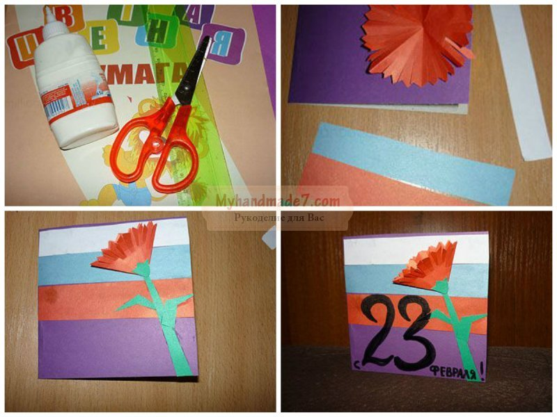 Поделки для детей из цветной бумаги пошагово