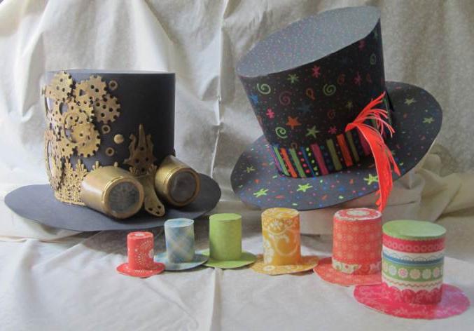 Сделать шляпку из подручных материалов