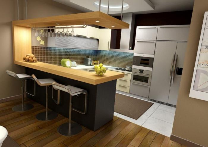 Кухня икеа с барной стойкой фото