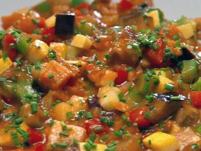 Рагу из кабачков и овощей с мясом