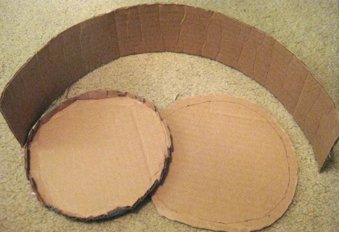 Мк круглая коробка из картона