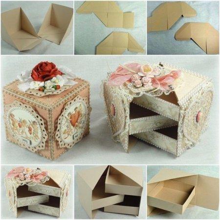 Делаем из картона шкатулки своими руками