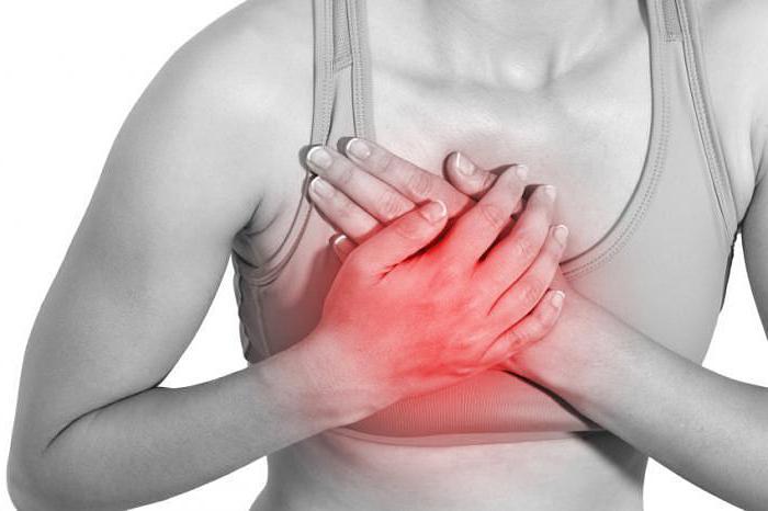 Жжение в левой части груди