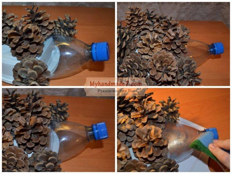 Ежик с пластиковых бутылок своими руками 22