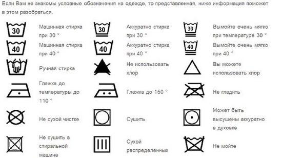 Що означають позначення для прання на ярликах одягу  2230c519cf405