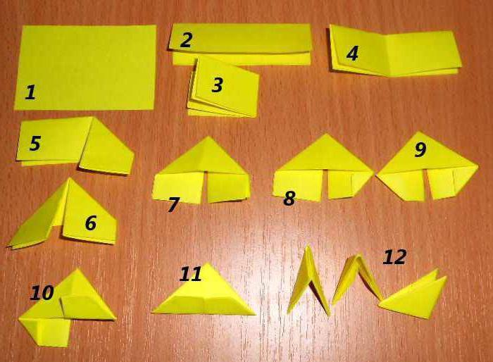 Модули треугольные поделки 62