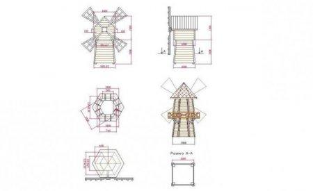 Схема как сделать мельницу для сада своими руками схема пошаговая инструкция 39