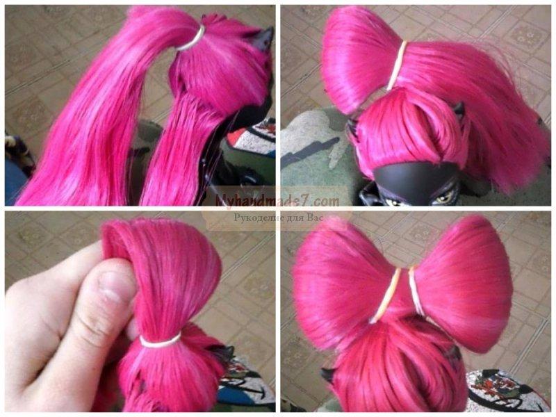 Как сделать легкую причёску для куклы 302