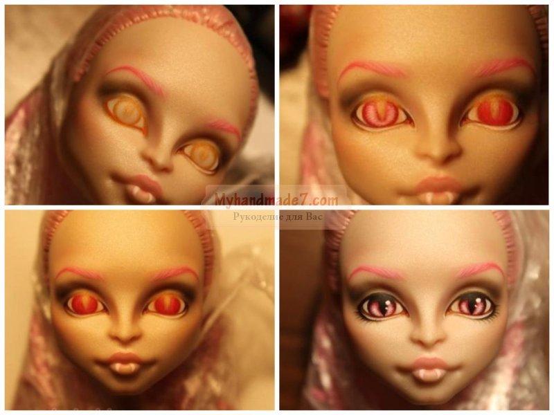 Как сделать куклу монстр хай из кукол 82