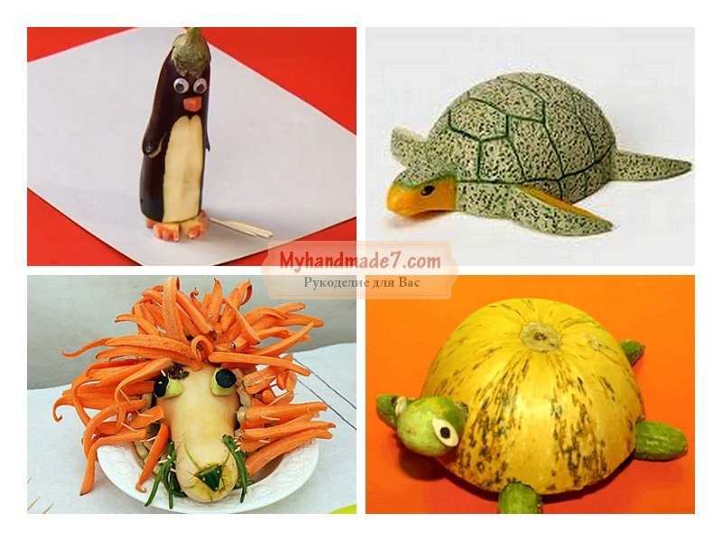 Как сделать поделки из овощей и фруктов своими руками 25
