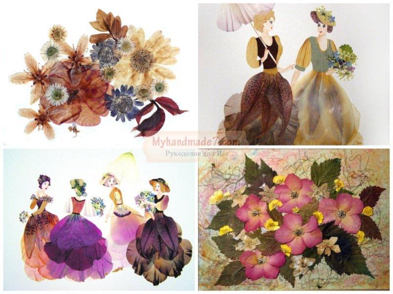 Картины из осенних цветов своими руками 15