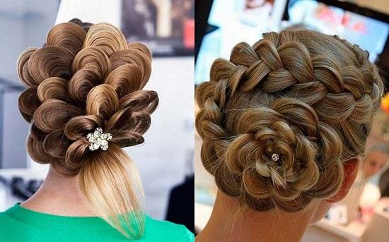 Прическа на средние волосы косички