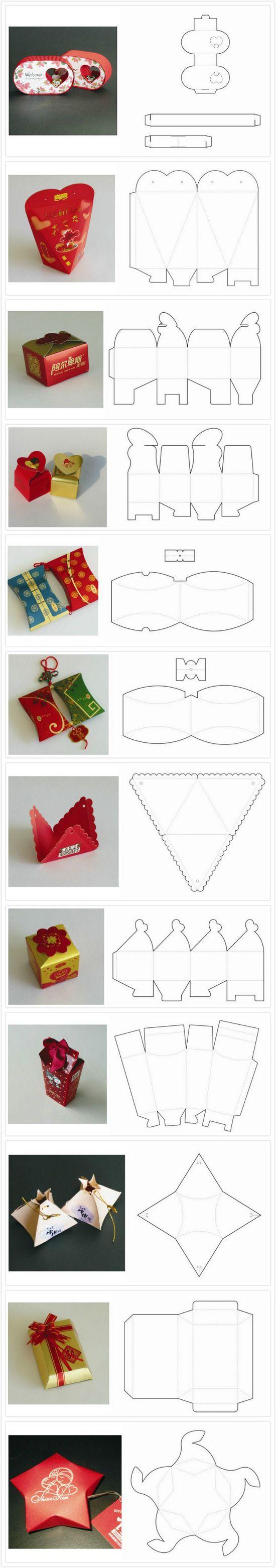 Как сделать коробочку из картона для подарков 60