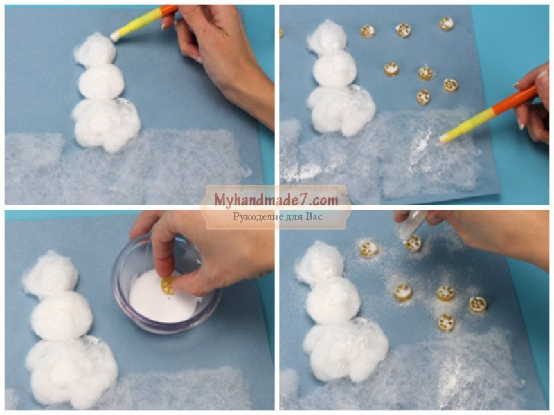Как сделать снеговика из ваты своими руками фото 150