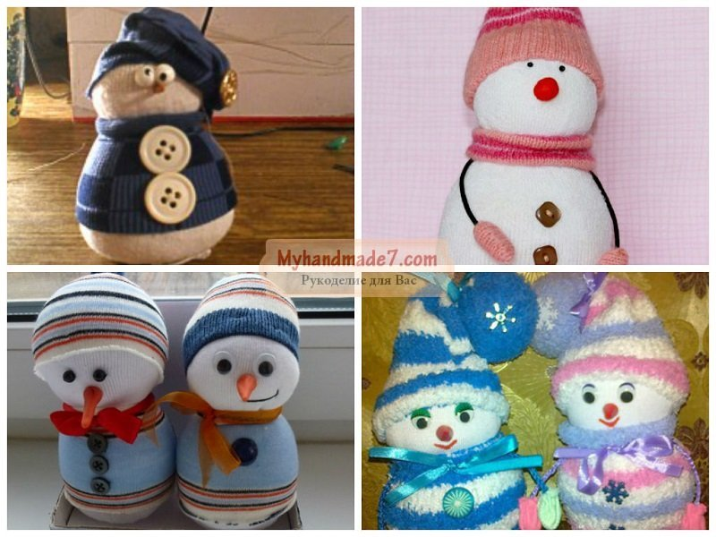 Поделки своими руками снеговик из носка своими руками