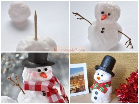 товар сделать снеговика из ваты комнату Ленинском районе