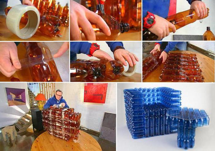 Стул из бутылок своими руками 51