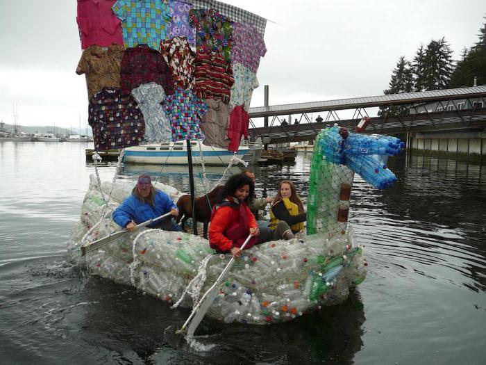 Лодка из бутылок пластиковых своими руками фото 81