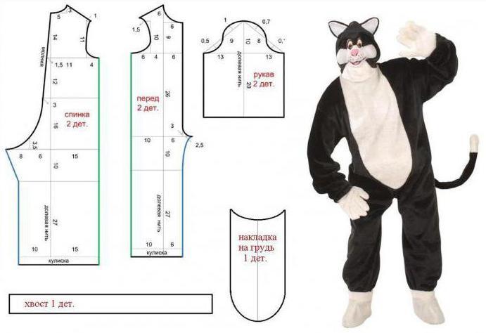 Как сшить костюм кота своими руками